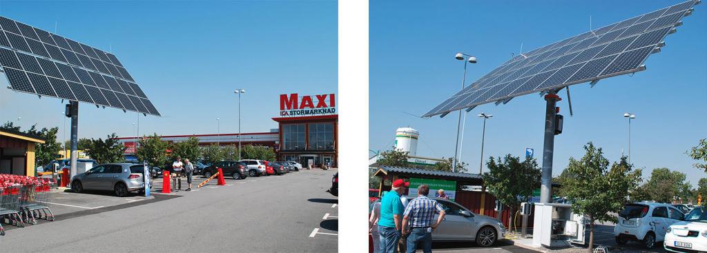 Solceller på Maxis parkering