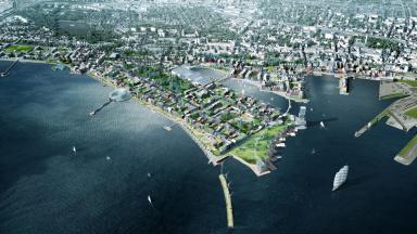 Visionsbild översikt nya stadsdelar